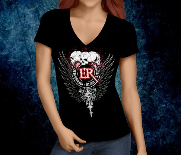 Girlie Shirt V-Neck - Bloodwing